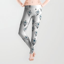 Grey blue jewel Leggings