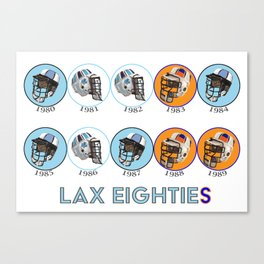 Lax Eighties Canvas Print
