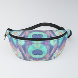 Abstract blue Peacock pattern Fanny Pack