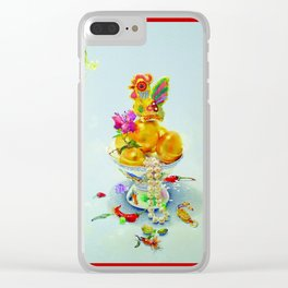 Year of the Rooster (rectangular with border) Clear iPhone Case