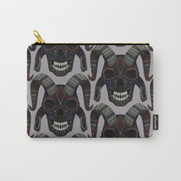 demon skull heather Carry-All Pouch