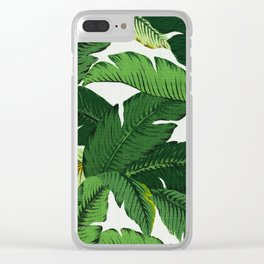 banana leaf palms Clear iPhone Case