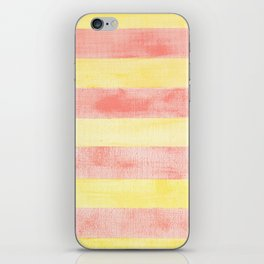 Pink and yellow stripes iPhone Skin