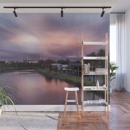 sunset melbourne yarra river Wall Mural