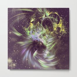 Twisted Time - Black Hole Effects Metal Print