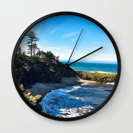 Coastal Cove - Oregon Wall Clock