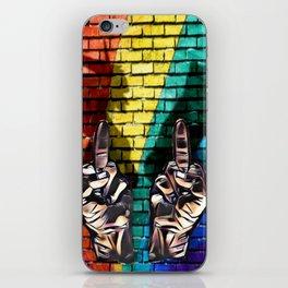 EFF cats rainbows and unicorns iPhone Skin