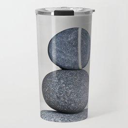 Zen cairn pebble stone balance grey Travel Mug