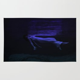 Rising To The Top : Deep Blue Water Photograph Rug