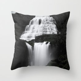 Dynjandi - Thunder of the Westfjords Throw Pillow