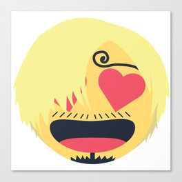 Sanji Emoji Design Canvas Print
