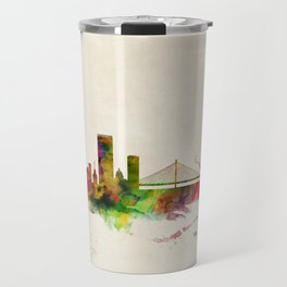 Liege Belgium Skyline Travel Mug