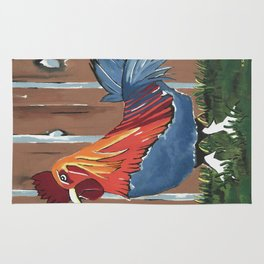 Barnyard Rooster Rug