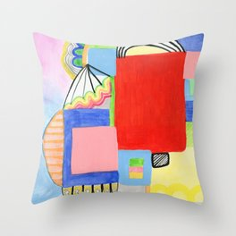 Primary Geo Summer Day Throw Pillow