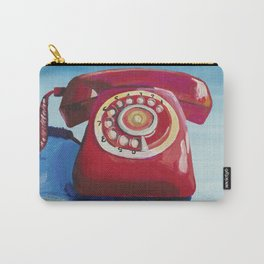 Retro Red Phone Carry-All Pouch