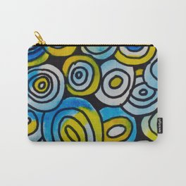 Blue Buttons Carry-All Pouch
