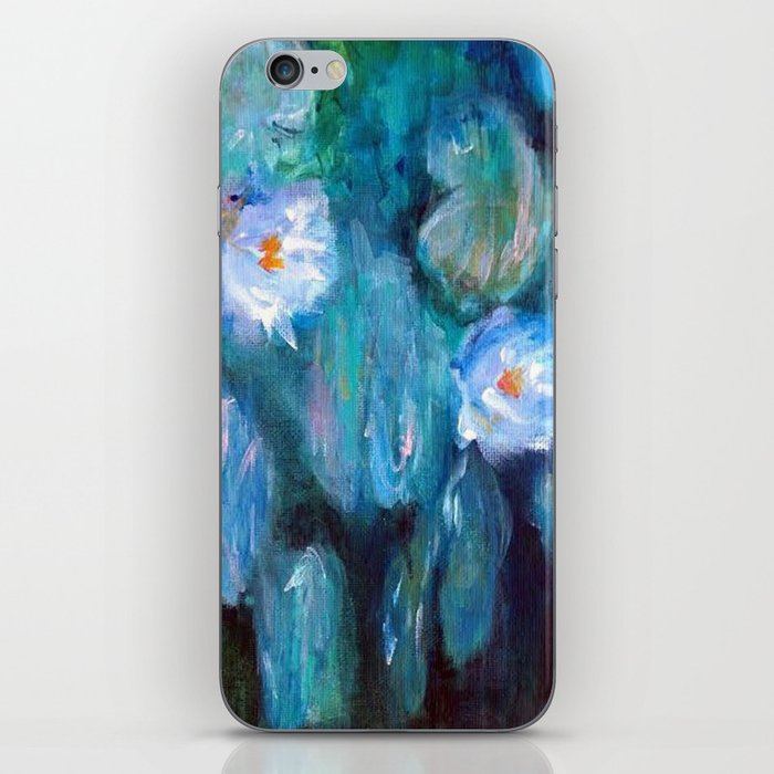 Blue Water Lilies iPhone Skin