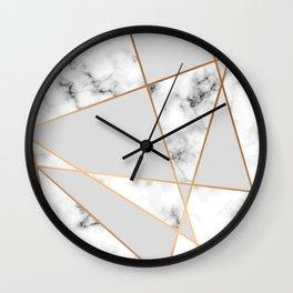 Copper smokey marble geo Wall Clock