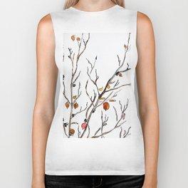 Graphic art, leaves, trees, autumn Biker Tank