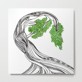 Bowing Tree Metal Print