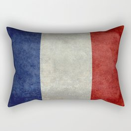 French Flag with vintage textures Rectangular Pillow