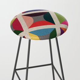 Colourful Geometric Bar Stool