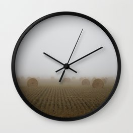 Misty Harvest Wall Clock