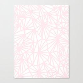 Handmade minimal geometric pattern - pastel pink #decor Canvas Print
