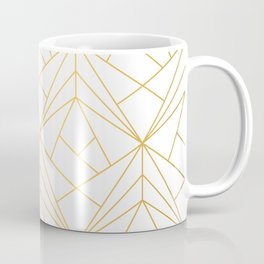Golden Diagonal lines Pattern Coffee Mug