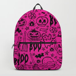 Spooky Pattern - Hot Pink Backpack