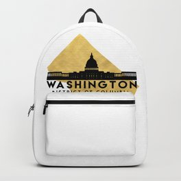 WASHINGTON D.C. DISTRICT OF COLUMBIA SILHOUETTE SKYLINE MAP ART Backpack
