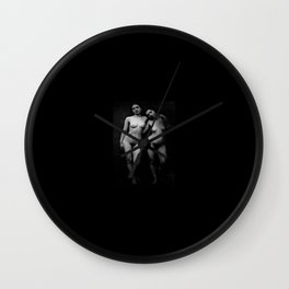 female nudes Anonymous Daguerrotype 1855 Wall Clock