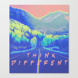 Think Different Neon Landscape Canvas Print