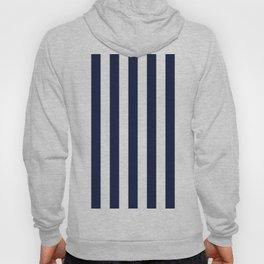 Maritime pattern- darkblue stripes on clear white - vertical Hoody