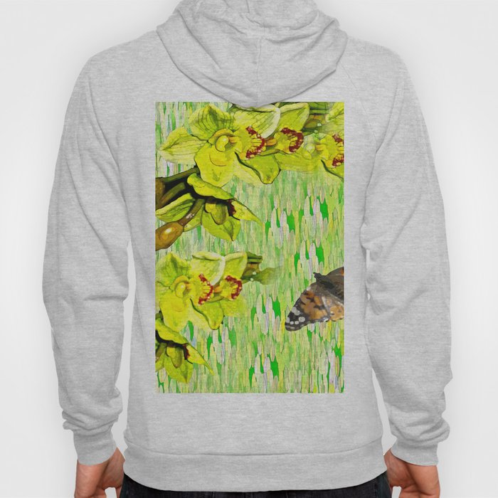 Orchids Lemon Yellow and Lime Green Hoody