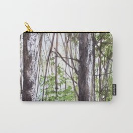 Woodland Trees in Vermont Illustration Nature Art Carry-All Pouch