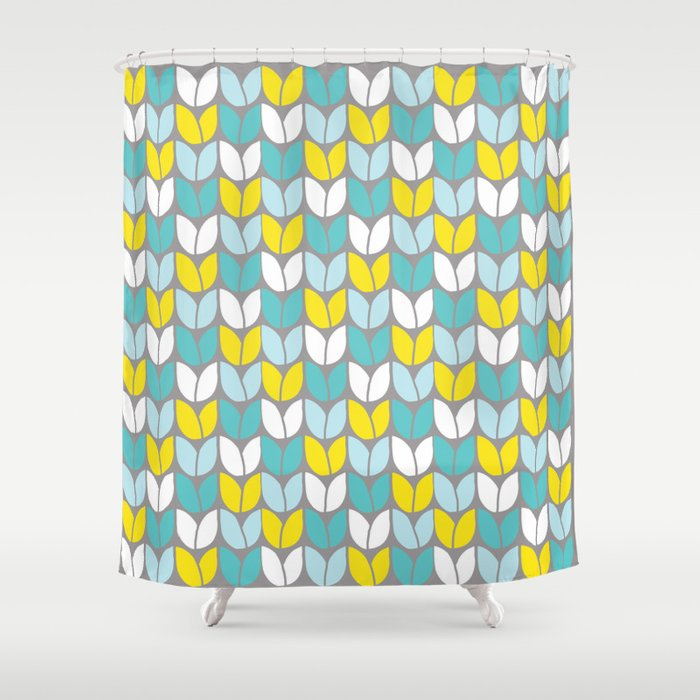 teal and yellow shower curtain. Tulip Knit  Aqua Gray Yellow Shower Curtain by beththompson Society6