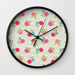 Vintage Farm floral Wall Clock