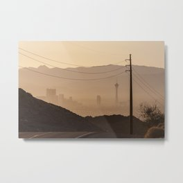 Las Vegas Strip from Lake Mead National Recreation Area Metal Print