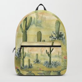 Desert Sunset Landscape Backpack