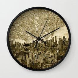 toronto city skyline Wall Clock