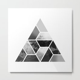 Tessellate Triangle Mountain Metal Print