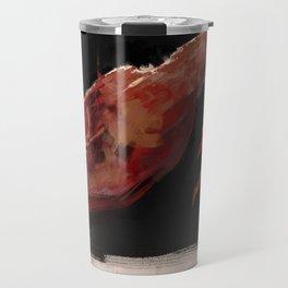 Meat hanging illustration digital texture flesh painting Travel Mug