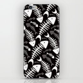 Fish Bone Black & White iPhone Skin