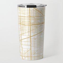 CHICAGO ILLINOIS CITY STREET MAP ART Travel Mug