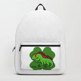 Iguana On 4 Leaf Clover- St. Patricks Day Funny Backpack
