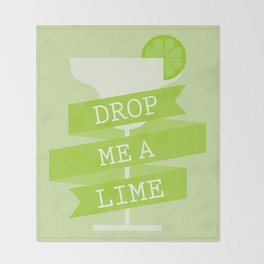 Drop Me A Lime Throw Blanket