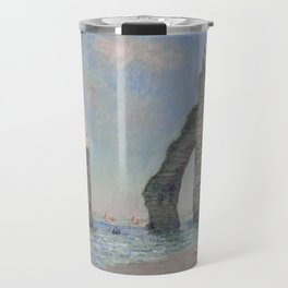 The Rock Needle and the Porte d'Aval by Claude Monet Travel Mug