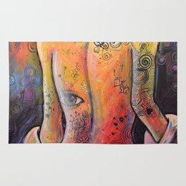Abstract Art Original Nude Woman Girl Painting ... The Company You Keep Rug