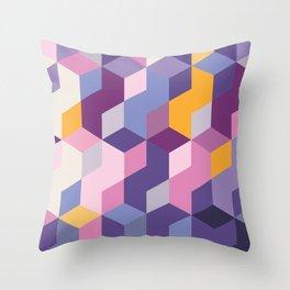 Violet Pattern Throw Pillow
